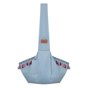 EthnicDenim Sling Bag [Light Blue] - 2차 리오더